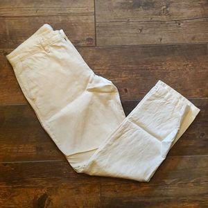 Cream Color Linen Pants